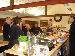 customers at the Nigel Brown Cookery Academy