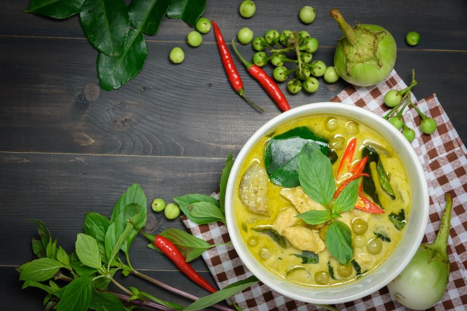 Thai green curry cookery course