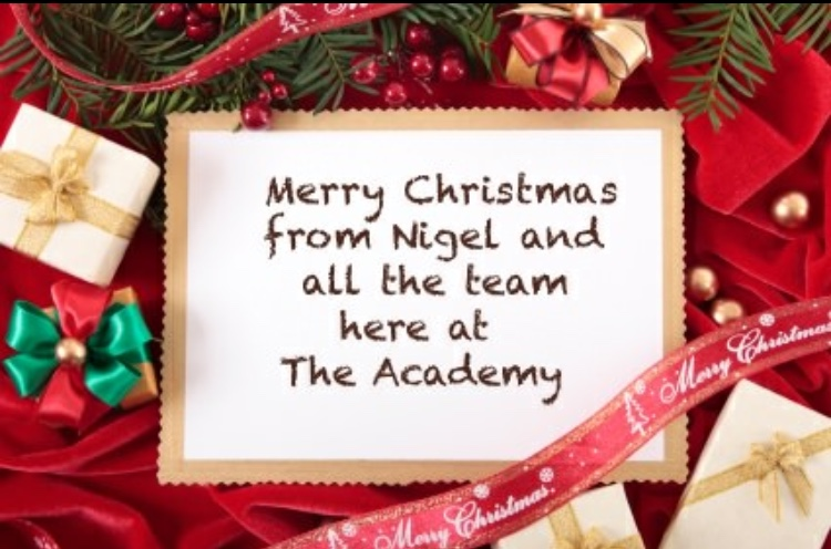 A Very Merry Christmas To All Our Academy Guests - Nigel Brown Chef